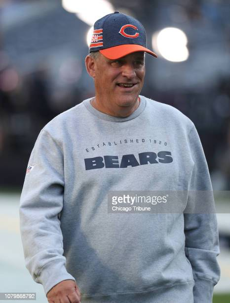 Chicago Bears defensive coordinator Vic Fangio walks on the field before a game against the Seattle Seahawks at Soldier Field in Chicago on September...