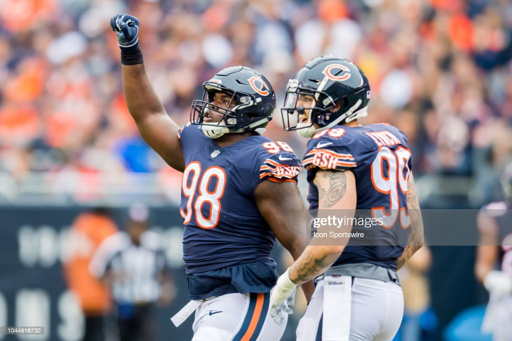Chicago Bears defensive tackle Bilal Nichols and Chicago