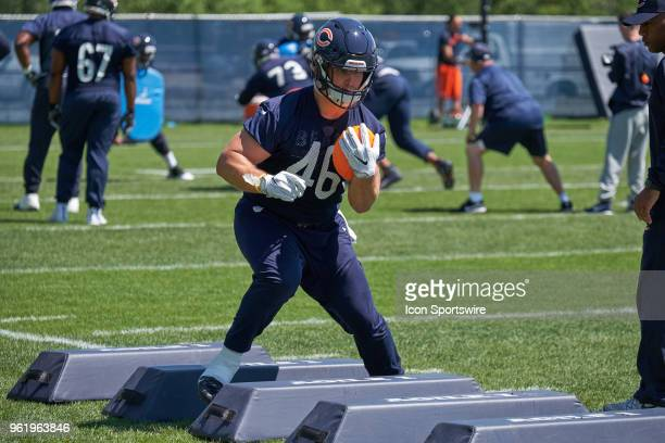 Chicago Bears fullback Michael Burton participates during the Bears OTA session on May 23 2018 at Halas Hall in Lake Forest IL