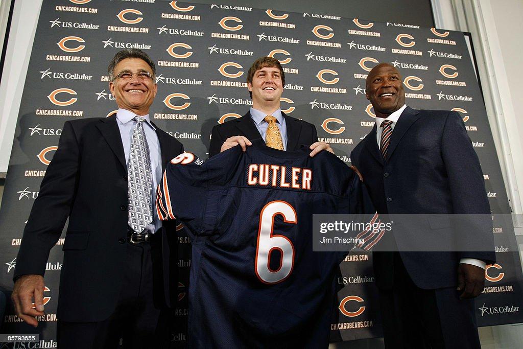 Chicago Bears Introduce Jay Cutler : Foto jornalística