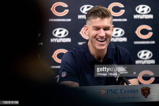 Chicago Bears General Manager Ryan Pace answers questions during a press conference Monday Jan 14 at Halas Hall in Lake Forest Ill