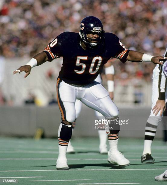 Chicago Bears Hall of Fame linebacker Mike Singletary circa the mid1980s