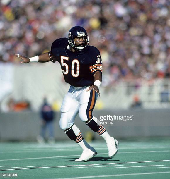 Chicago Bears Hall of Fame linebacker Mike Singletary during a 279 victory over the Minnesota Vikings on October 27 at Soldier Field in Chicago...