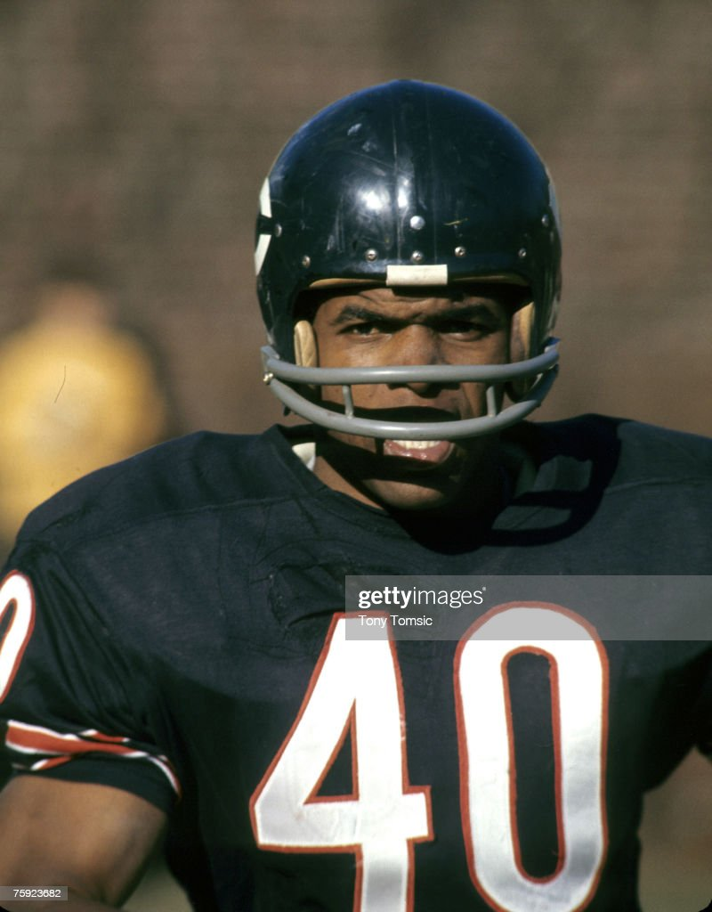 Chicago Bears Hall of Fame running back Gale Sayers circa 1967.