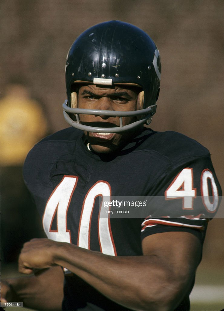 Chicago Bears Hall of Fame running back Gale Sayers (40) in 1969.