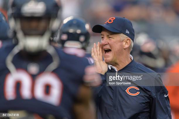 Chicago Bears head coach John Fox looks on at warmups during an NFL preseason football game between the Cleveland Browns and the Chicago Bears on...