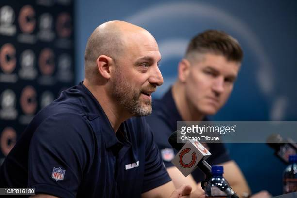 Chicago Bears Head Coach Matt Nagy and General Manager Ryan Pace answer questions during a press conference Monday Jan 14 at Halas Hall in Lake...