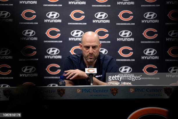 Chicago Bears Head Coach Matt Nagy answers questions during a press conference Monday Jan 14 at Halas Hall in Lake Forest Ill