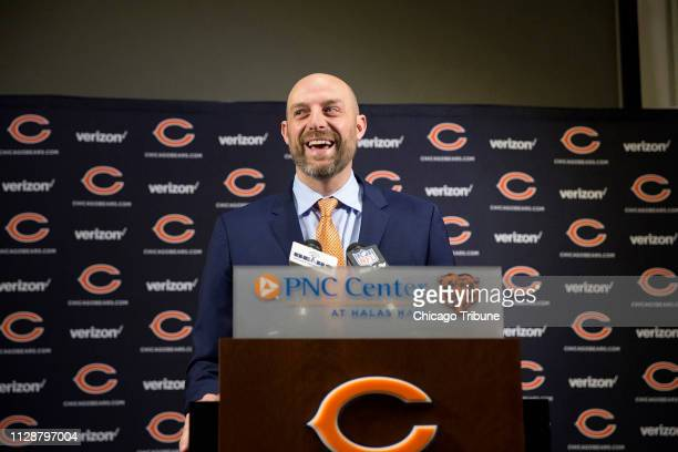 Chicago Bears head coach Matt Nagy during a news conference on January 9 at Halas Hall in Lake Forest, Ill.