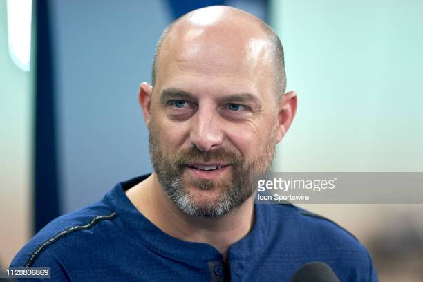 Chicago Bears head coach Matt Nagy during the NFL Scouting Combine on February 27 2019 at the Indiana Convention Center in Indianapolis IN