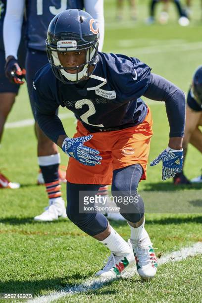 Chicago Bears ide receiver Matt Fleming participates during the Bears OTA session on May 16, 2018 at Halas Hall, in Lake Forest, IL.