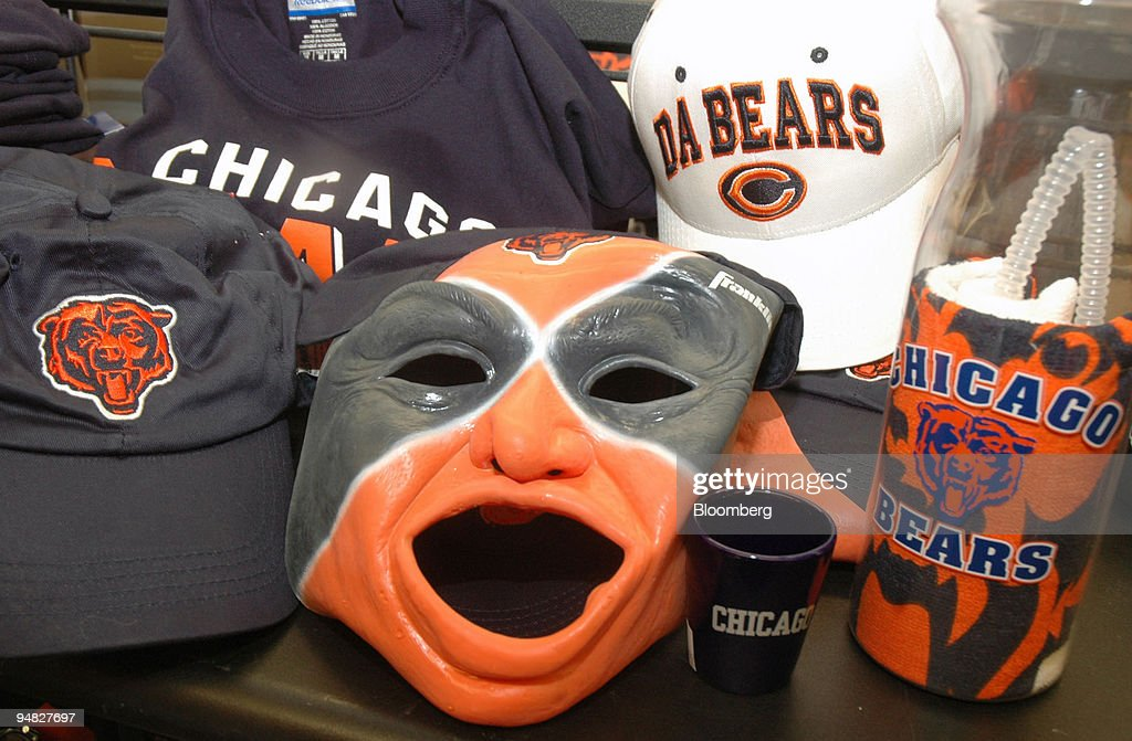 sale retailer 05f38 58ad4 Chicago Bears merchandise is on display at a Sports ...