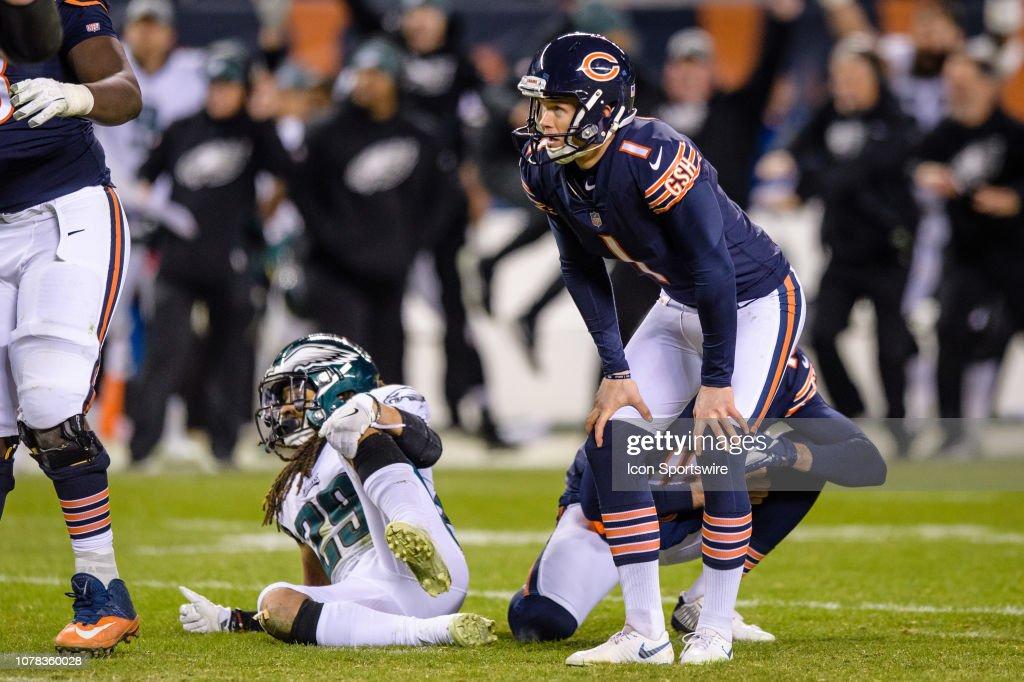 NFL: JAN 06 NFC Wild Card - Eagles at Bears : News Photo