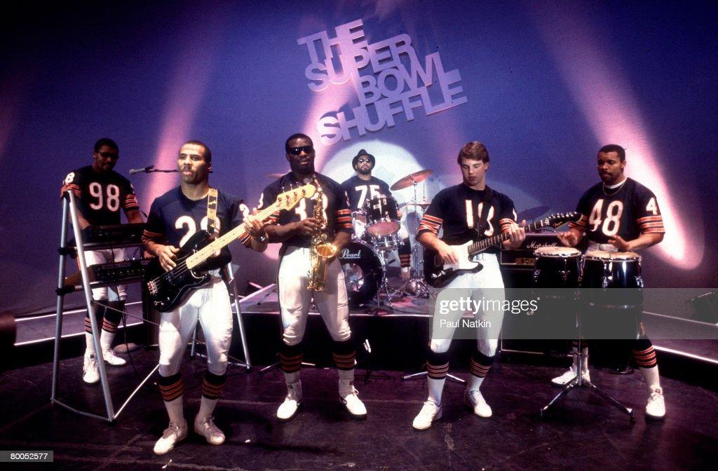1985 Chicago Bears - Super Bowl Shuffle Video Shoot : Foto jornalística