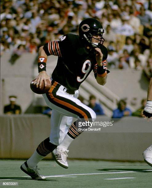 Chicago Bears quarterback Jim McMahon scrambles during a 2314 loss to the Detroit Lions on September 30 at Soldier Field in Chicago Illinois
