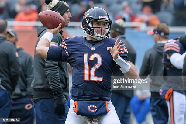 f0e97e88ee0 Chicago Bears Quarterback Matt Barkley before an NFL football game between  the Jacksonville Jaguars and the