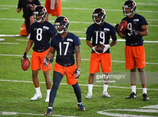 Chicago Bears rookie wide receiver Anthony Miller practices during the Chicago Bears Rookie Minicamp on May 13 2018 at Halas Hall in Lake Forest...
