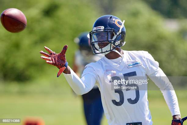 Chicago Bears running back Johnathan Banks participates in drills during the Bears team OTA workouts on June 06 2017 at Halas Hall in Lake Forest IL