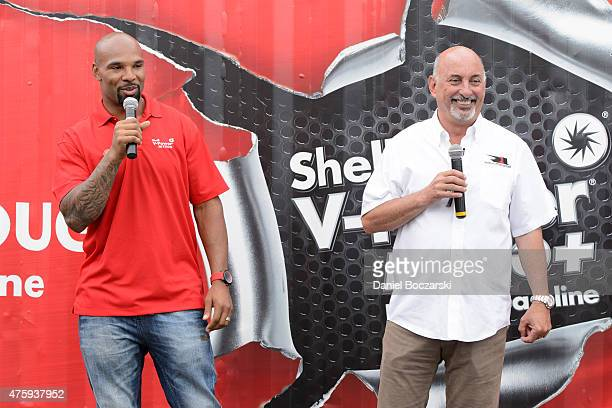 Chicago Bears running back Matt Forte and racing legend Bobby Rahal continue the celebration of the North American launch of the new Shell VPower...