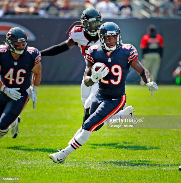 Chicago Bears running back Tarik Cohen carries against the Atlanta Falcons during the first half on Sunday Sept 2017 at Soldier Field in Chicago Ill