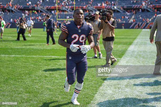 Chicago Bears running back Tarik Cohen runs off the field after a NFL football game between the Atlanta Falcons and the Chicago Bears on September 10...