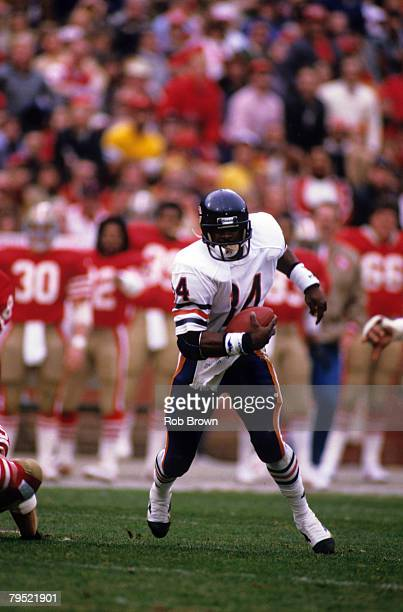 Chicago Bears running back Walter Payton in a 23 to 0 loss to the San Francisco 49ers in the 1984 NFC Championship game on January 6 at Candlestick...