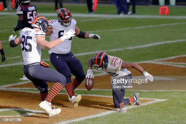 Chicago Bears wide receiver Allen Robinson celebrates a touchdown pass against the Houston Texans during the second quarter at Soldier Field on...