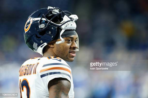 Chicago Bears wide receiver Allen Robinson looks on during warmups before the start of a regular season game between the Chicago Bears and the...