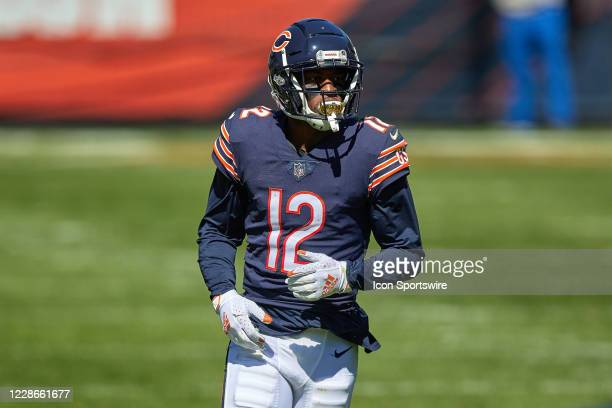 Chicago Bears wide receiver Allen Robinson looks on in action during a game between the Chicago Bears and the New York Giants on September 20, 2020...