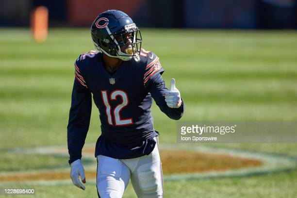 Chicago Bears wide receiver Allen Robinson looks to the sidelines in action during a game between the Chicago Bears and the New York Giants on...