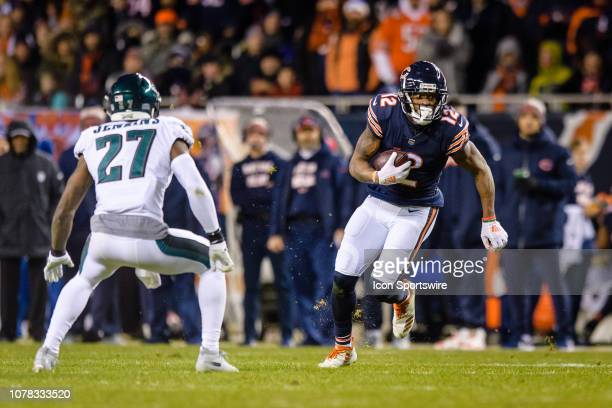 Chicago Bears wide receiver Allen Robinson runs after a catch in the 2nd quarter during an NFL NFC Wild Card football game between the Philadelphia...