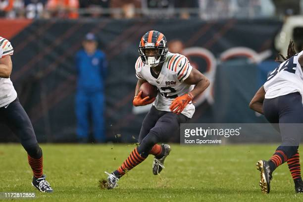 Chicago Bears wide receiver Allen Robinson runs with the football in game action during a game between the Chicago Bears and the Minnesota Vikings on...