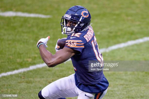 Chicago Bears wide receiver Allen Robinson runs with the football in action during a game between the Chicago Bears and the Detroit Lions on December...