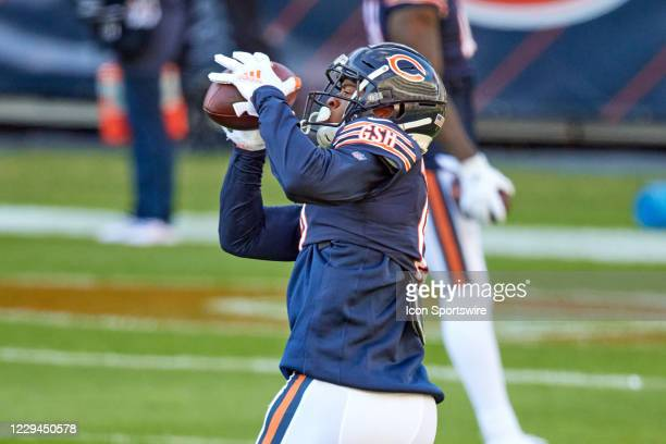 Chicago Bears wide receiver Allen Robinson warms up prior to action during a game between the Chicago Bears and the New Orleans Saints on November...