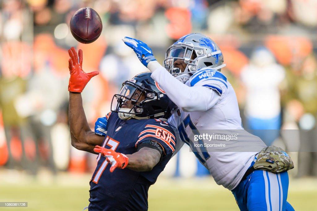 NFL: NOV 11 Lions at Bears : News Photo