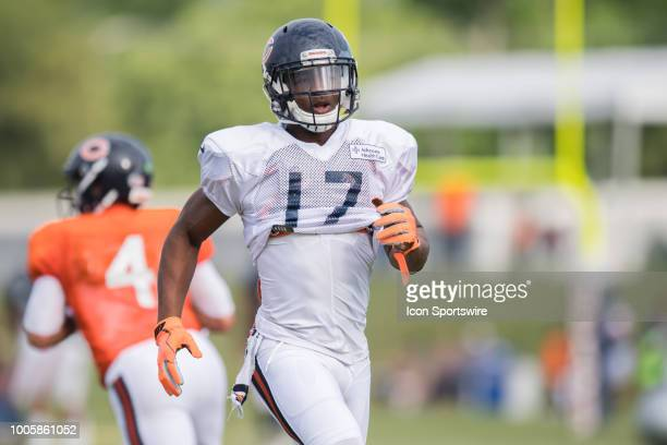 Chicago Bears wide receiver Anthony Miller during Chicago Bears Training Camp on July 26 at Olivet Nazarene University in Bourbonnais IL