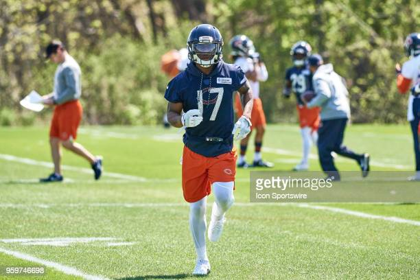 Chicago Bears wide receiver Anthony Miller participates during the Bears OTA session on May 16 2018 at Halas Hall in Lake Forest IL
