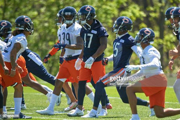 Chicago Bears wide receiver Anthony Miller participates during the Bears OTA session on May 23 2018 at Halas Hall in Lake Forest IL