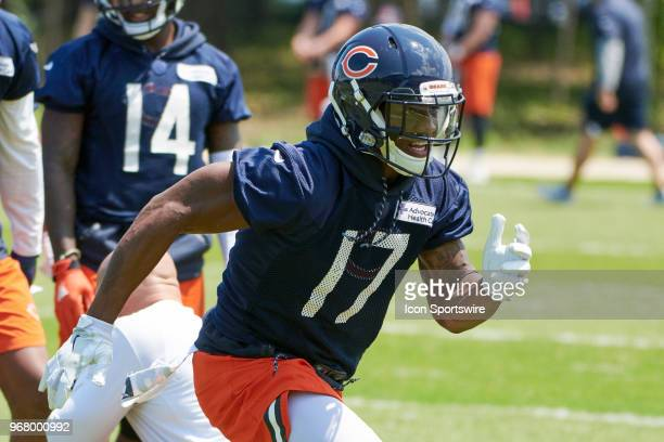 Chicago Bears wide receiver Anthony Miller participates during the Bears Minicamp on June 5 2018 at Halas Hall in Lake Forest IL