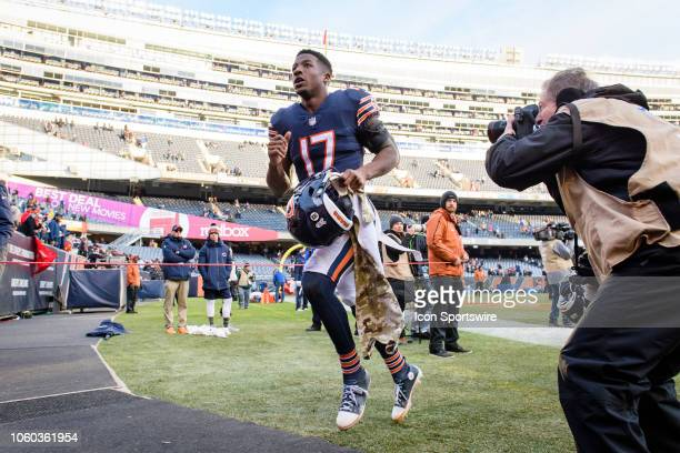 Chicago Bears wide receiver Anthony Miller runs off the field after an NFL football game between the Detroit Lions and the Chicago Bears on November...
