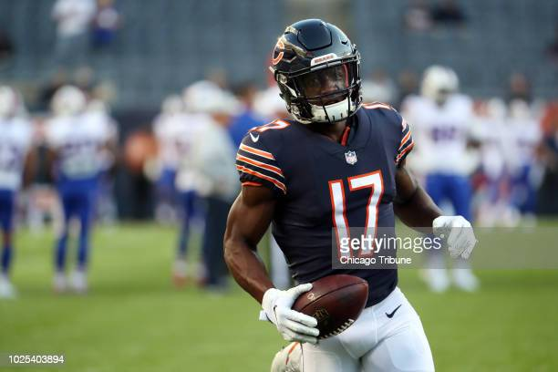 Chicago Bears wide receiver Anthony Miller warms up for a preseason game against the Buffalo Bills at Soldier Field in Chicago on Thursday Aug 30 at...