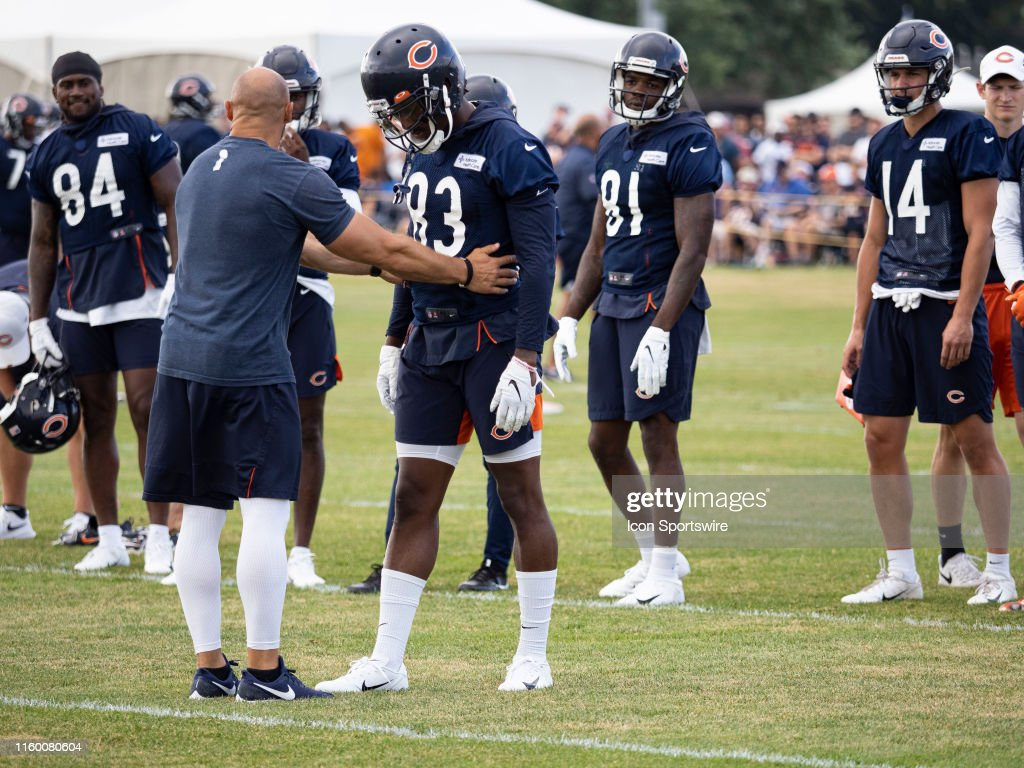 promo code f6612 5c160 Chicago Bears wide receiver Javon Wims gets a talking to ...