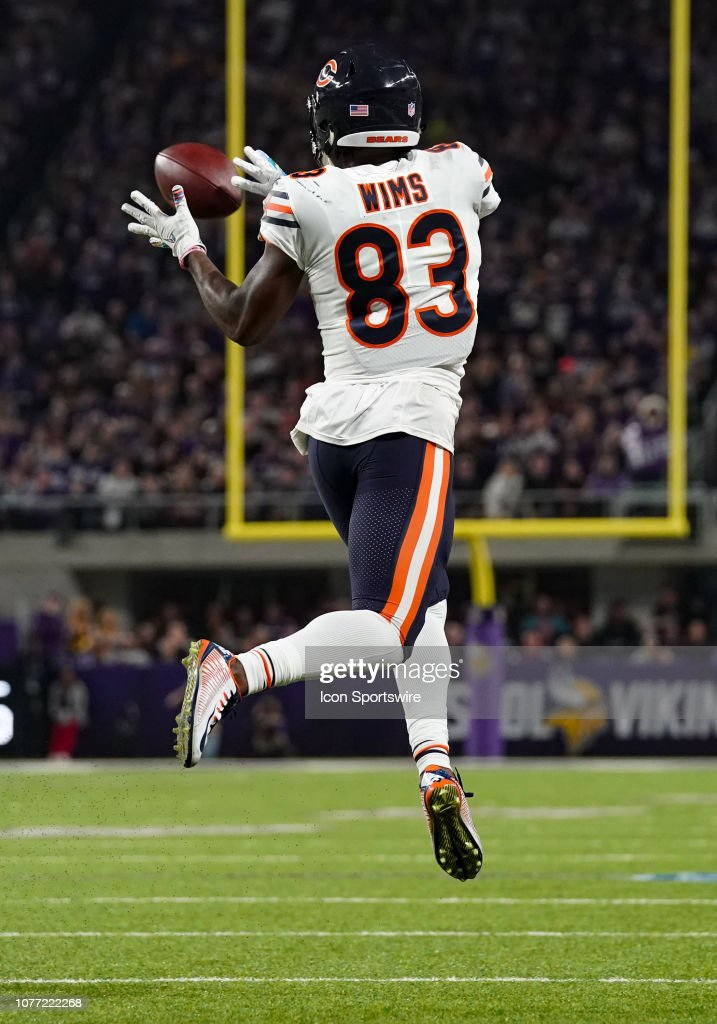 huge discount fcdf1 aab4b Chicago Bears Wide Receiver Javon Wims makes a catch during ...