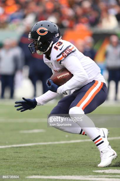 Chicago Bears wide receiver Kendall Wright carries the ball during the game against the Chicago Bears and the Cincinnati Bengals on December 10th...