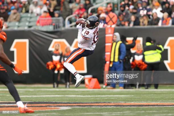Chicago Bears wide receiver Kendall Wright catches a pass during the game against the Chicago Bears and the Cincinnati Bengals on December 10th 2017...