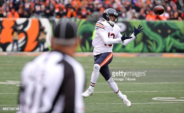 Chicago Bears wide receiver Kendall Wright catches a pass in the first quarter against the Cincinnati Bengals on Sunday Dec 10 2017 at Paul Brown...