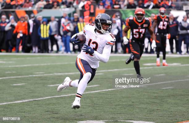 Chicago Bears wide receiver Kendall Wright runs up the field after catching a pass in the second quarter against the Cincinnati Bengals on Sunday Dec...