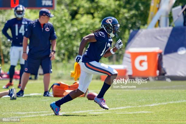 Chicago Bears wide receiver Markus Wheaton participates in drills during the Bears team OTA workouts on June 06 2017 at Halas Hall in Lake Forest IL