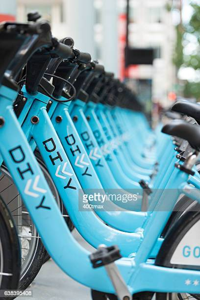 chicago bike sharing - april fool stock photos and pictures