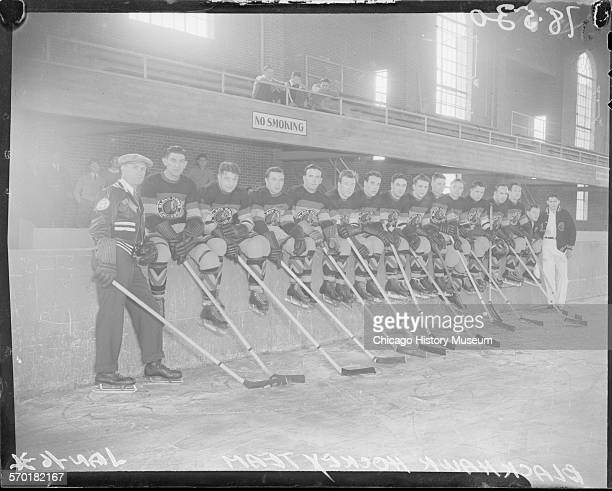 Chicago Black Hawks hockey team Chicago Illinois January 16 1934 From the Chicago Daily News collection